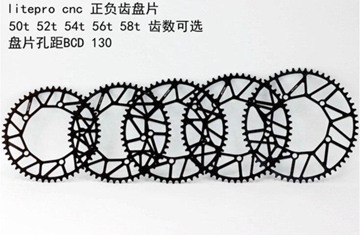 Roue de chaîne de vélo pour Brompton vélo pliant forme ronde étroite large 130BCD 130mm 50 T 52 T 54 T 56 T 58 T 85g léger