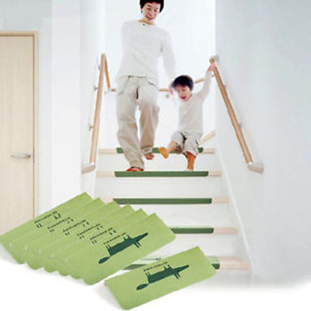 Stair Treads Anti Slip Mats Rugs Pads Runner Mute Staircase Carpet Home Decor Semicirle