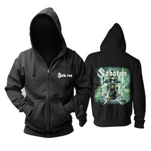 Image 4 - Bloodhoof Sabaton heavy metal czarny power metalowy zamek błyskawiczny z kapturem w rozmiarze azjatyckim