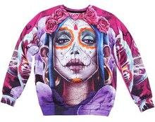 Harajuku mexikanische schädel sweatshirt winter männer/frauen rose schädel drucken kleidung 3d galaxy hoodies top plus größe S-XXL Drop Shipping