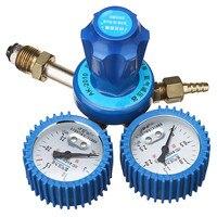 Shock Oxygen Pressure Regulator Dual Gauge Single Stage Stainless Steel Argon Regulator Oxygen Reducer 0 2.5MPa G5/8