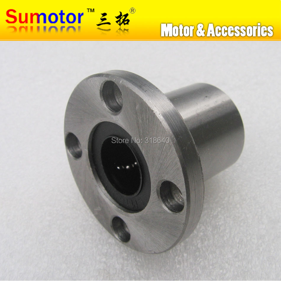 LMF20UU 20mm Round Flange Linear bushing motion ball bearing slide units CNC router CNC parts for linear guide rail rod shaft 1pcs linear motion ball bearings slide block bushing for scs8uu 8mm linear ball bearing block 3d printer part for cnc router