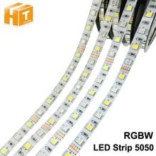 Светодиодные ленты 5050 RGBW DC 12 В/24 В гибкий светодиодный свет RGB + белый/RGB + теплый белый 60 Светодиодный/M 5 м/лот.