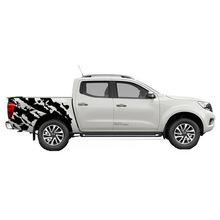 free shipping 2 PC body rear tail side graphic vinyl for NAVARA NP300 2015