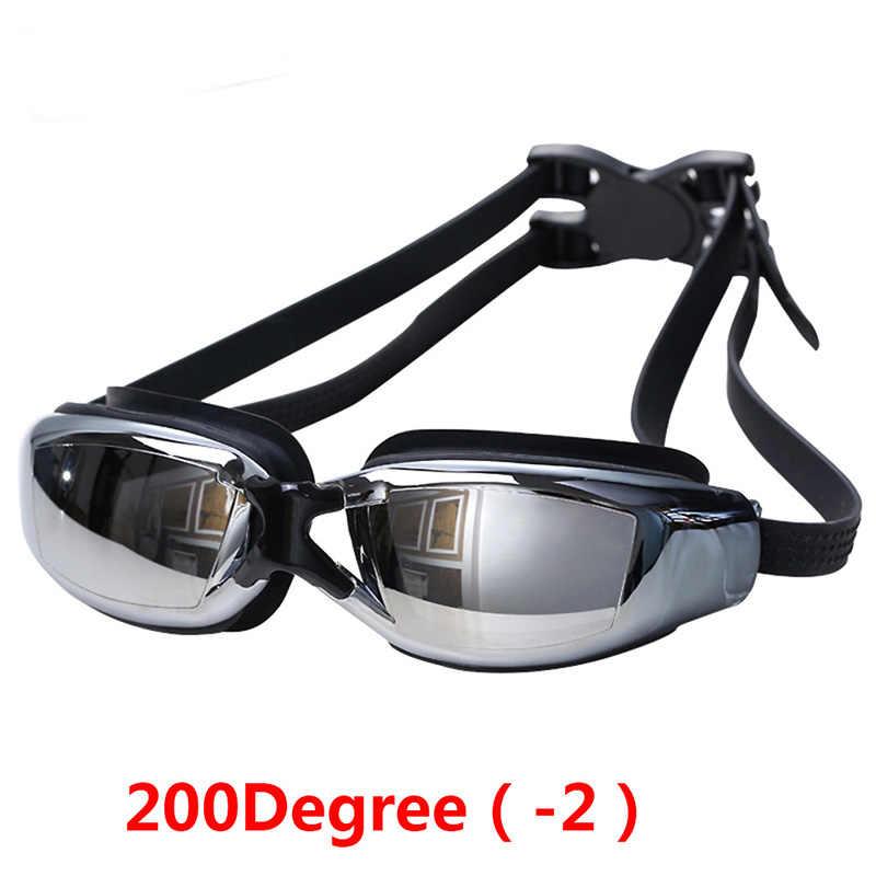 ac0f5444840 Swimming Goggles Professional Optical Myopia Nearsight Glasses Sportswear  Silicone Polycarbonate Lens Anti-fog Goggles