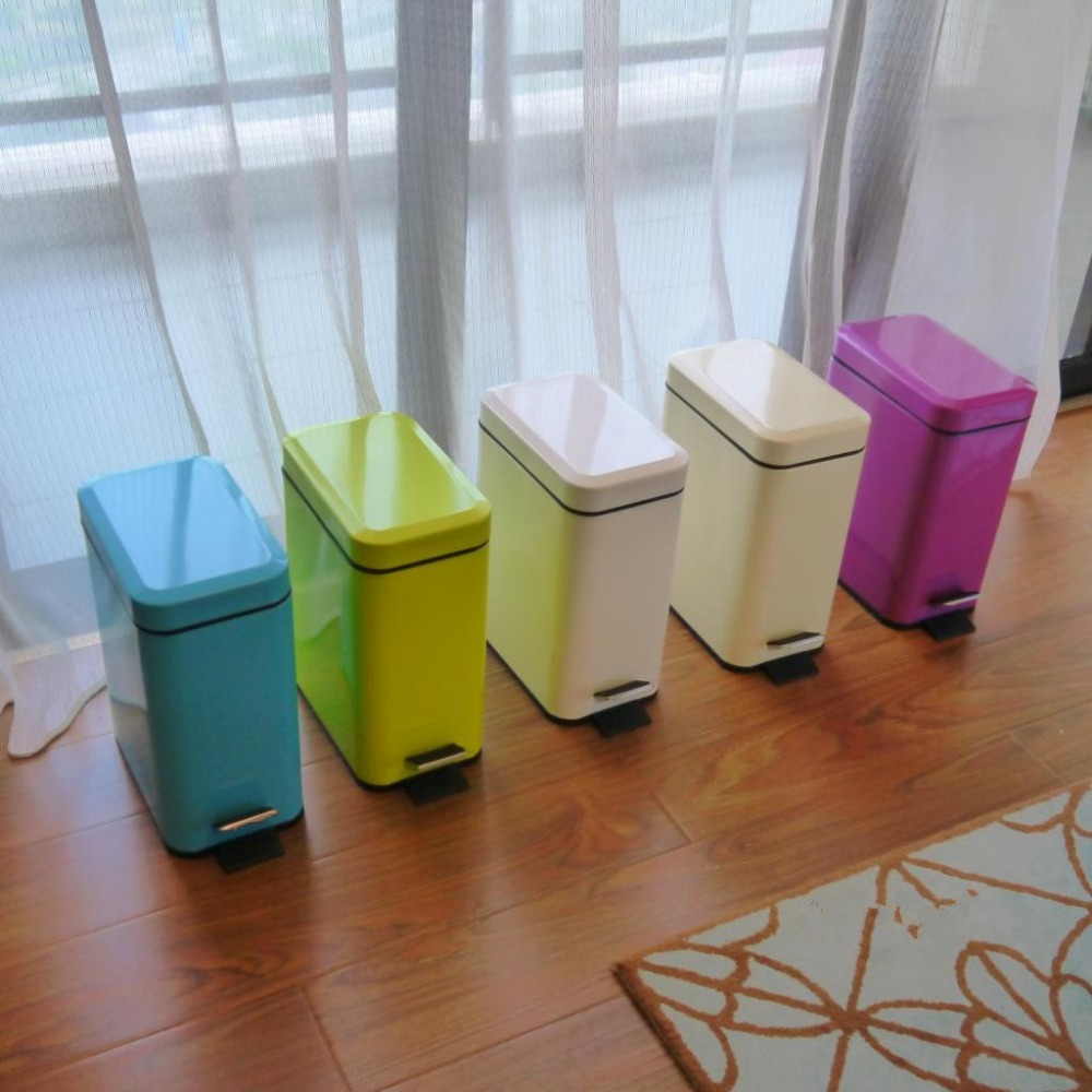 Rectangular trash can bathroom creative fashion stainless steel pedal household kitchen living room bedroom Hotel