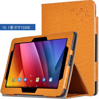 Luxury Folio Flip Stand Print Stand PU Leather Cover Case For ASUS Transformer Pad TF103C TF103CE