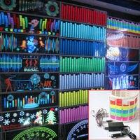 Kleurrijke 90*25 cm Flash Auto Muziek Rhythm Lamp LED Sound Muziek Equalizer auto Stickers
