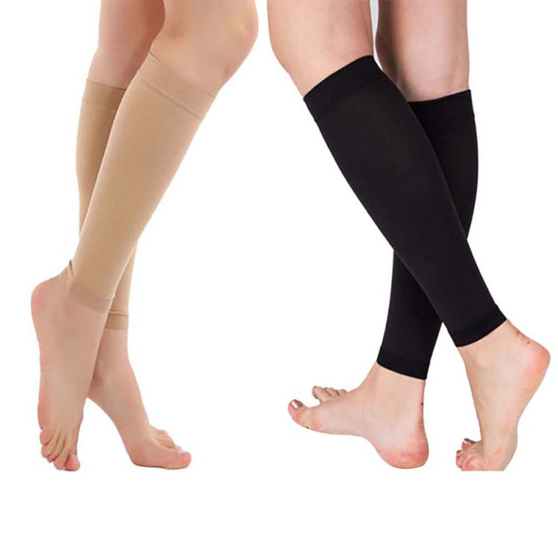 2018 Outdoor Sports Relieve Leg Calf Sleeve Varicose Vein Circulation Compression Elastic Stocking Leg Support Protector 1 Pair