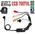 Mini 1/3 ''SONY CCD Color de La Cámara con la cámara Separado Micrófono incorporado de Alta Dureza Resistente Al Ácido effio-e 4140 + 673 \ 672