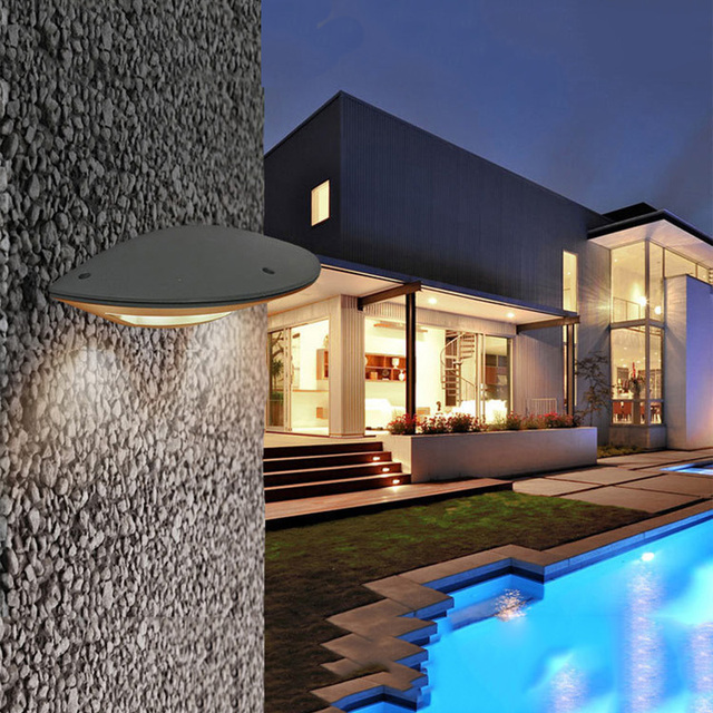 Ufo shaped led wall light ultra bright weatherproof indoor and outdoor lamp for room patio deck