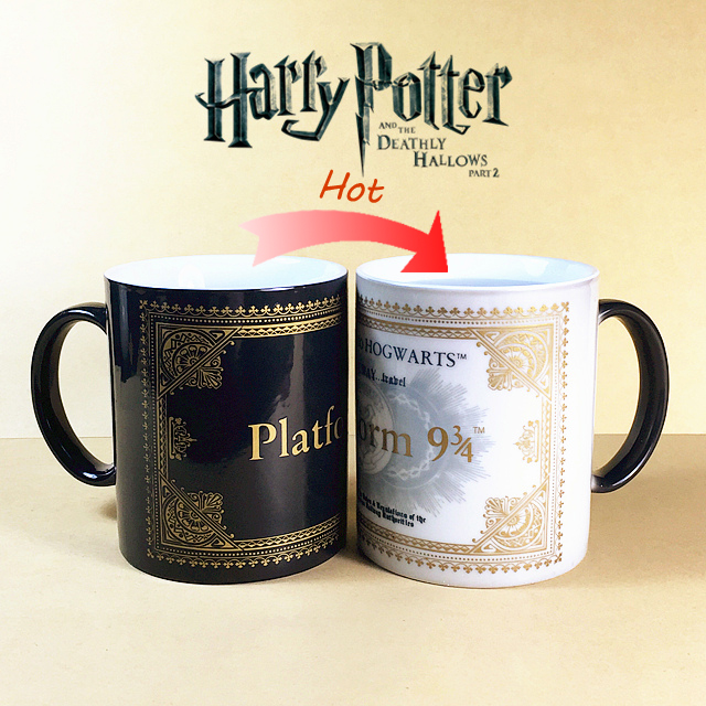 HOT SALL Harry Potter Mug Color Changing Cup Mischief Managed Platform 9 and 3 4 Magic