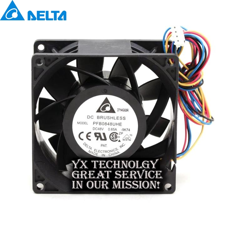 New PFB0848UHE 8CM 8038 48V 0.65A pwm wind capacity fan for DELTA 80*80*38mm free delivery 9025 9 cm 12 v 0 7 a computer cpu fan da09025t12u chassis big wind pwm four needle