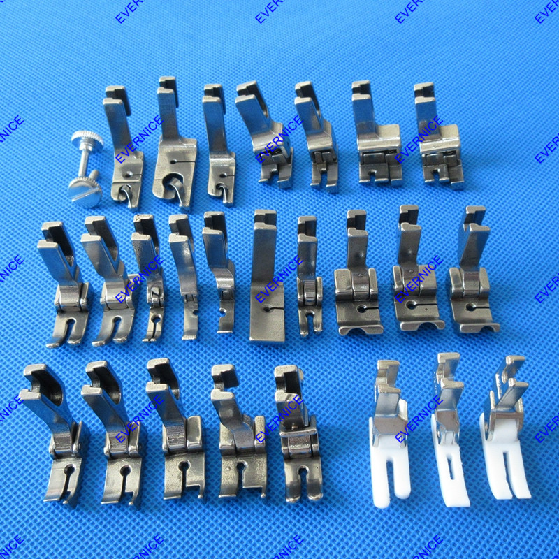 25 PRESSER FOOT SET HIGH SHANK for BROTHER DB2 B737 B735 B755 SINGLE NEEDLE
