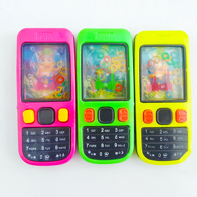Free Shipping 1PCS Funny Mobile Phone Shape Water Ferrule Game Kids Children Classic Intellectual Toys