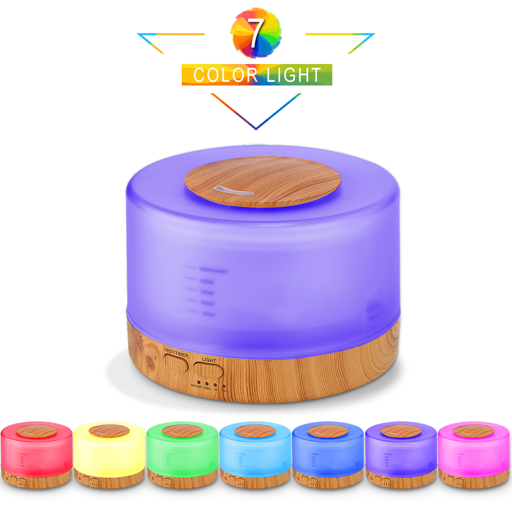 VVPEC Aroma Essential Oil Diffuser Remote Control Music Ultrasonic Air Humidifier With 7 Color Night Light
