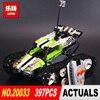 New Lepin 20033 397pcs Technic Series Remote Control Caterpillar Vehicles Building Blocks Bricks Educational Toys With