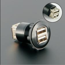 22mm USB2.0 PANEL MOUNT/buchse/stecker ADAPTER (2x USB2.0 WEIBLICHE A-WEIBLICHE A)