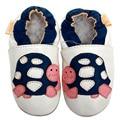 Кожа детская обувь первые ходоки мальчик тапочки новорожденный мокасины дети малыша обувь девочек Moccs белый non-водоустойчивая скольжения 0-4y