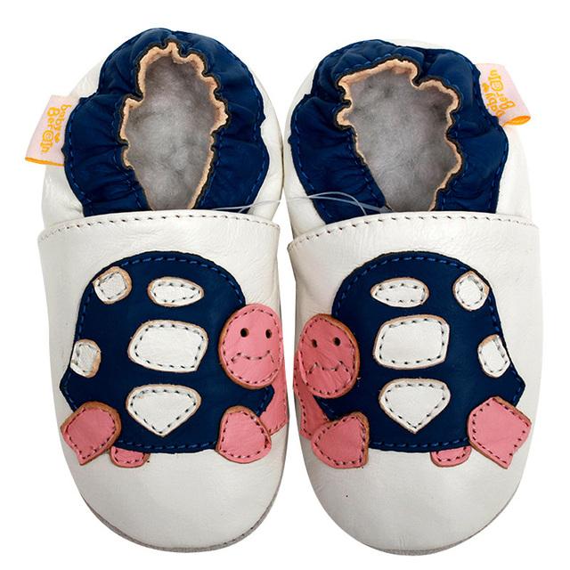 De cuero zapatos de bebé primeros caminante chico zapatilla bebé recién nacido mocasines niño de los cabritos de las muchachas de Moccs blanco antideslizante 0-4y