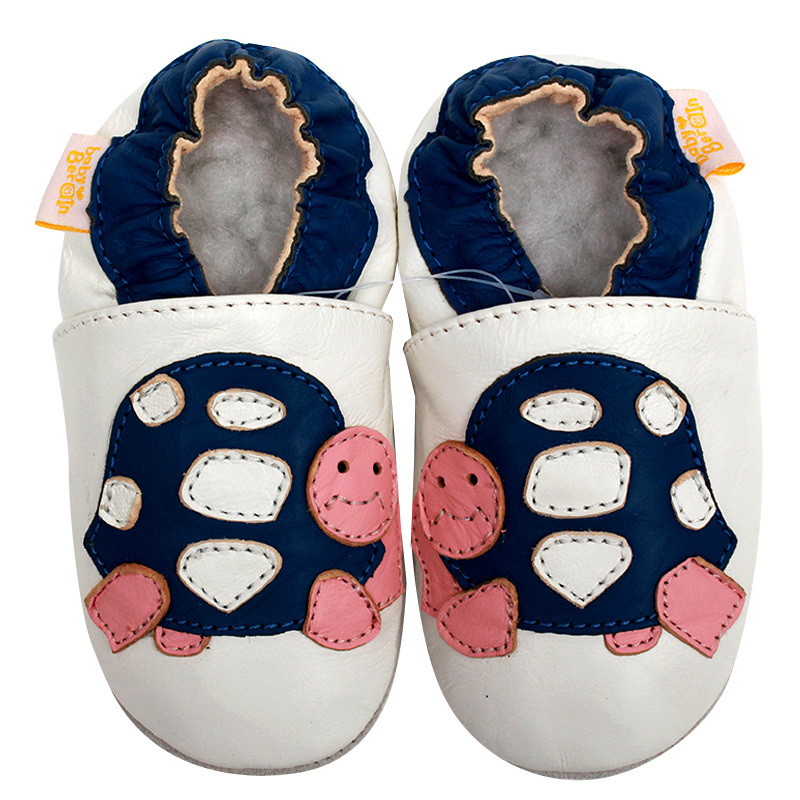Læder Babysko Første Walkers Boy Slipper Newborn Baby Moccasins Kids Toddler Shoes Piger Infant Moccs White Non-slip 0-4y
