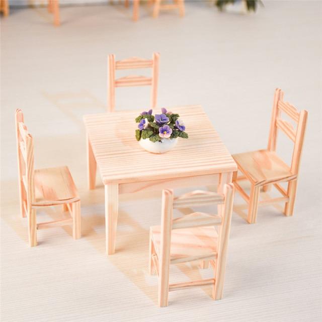 Doub K 112 Puppenhaus Möbel Spielzeug Miniatur Holz Stuhl Tisch