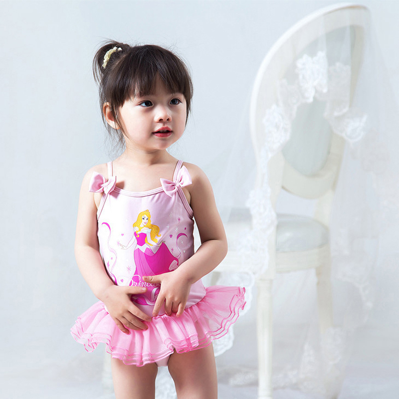 Child Swimwear Girl Junior Girls Swimsuit Baby Clothes Bathing Suits 2018 New Pink Animal Polyester Sierra Surfer