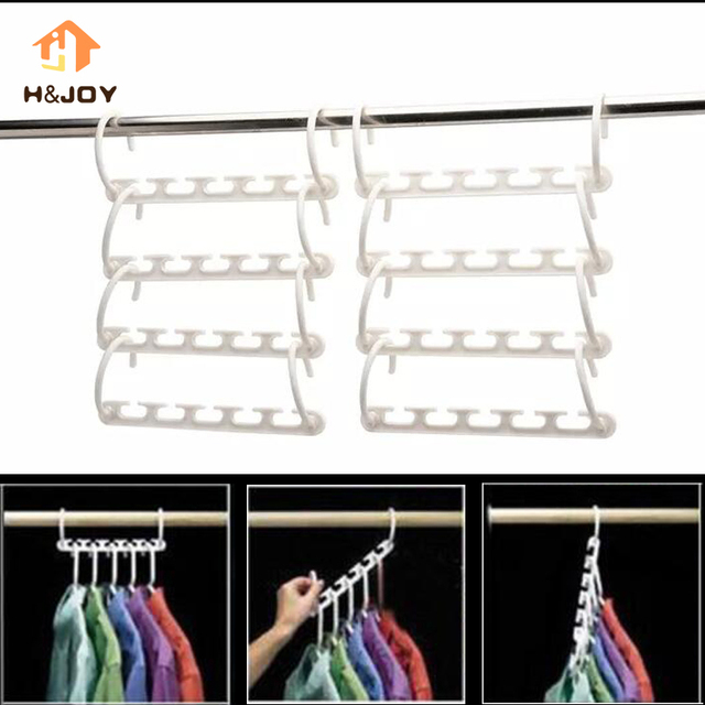8 Pcs Wonder Hanger For Clothes Hangers E Saver Wardrobes Organizer Storage Multi Magic Closet