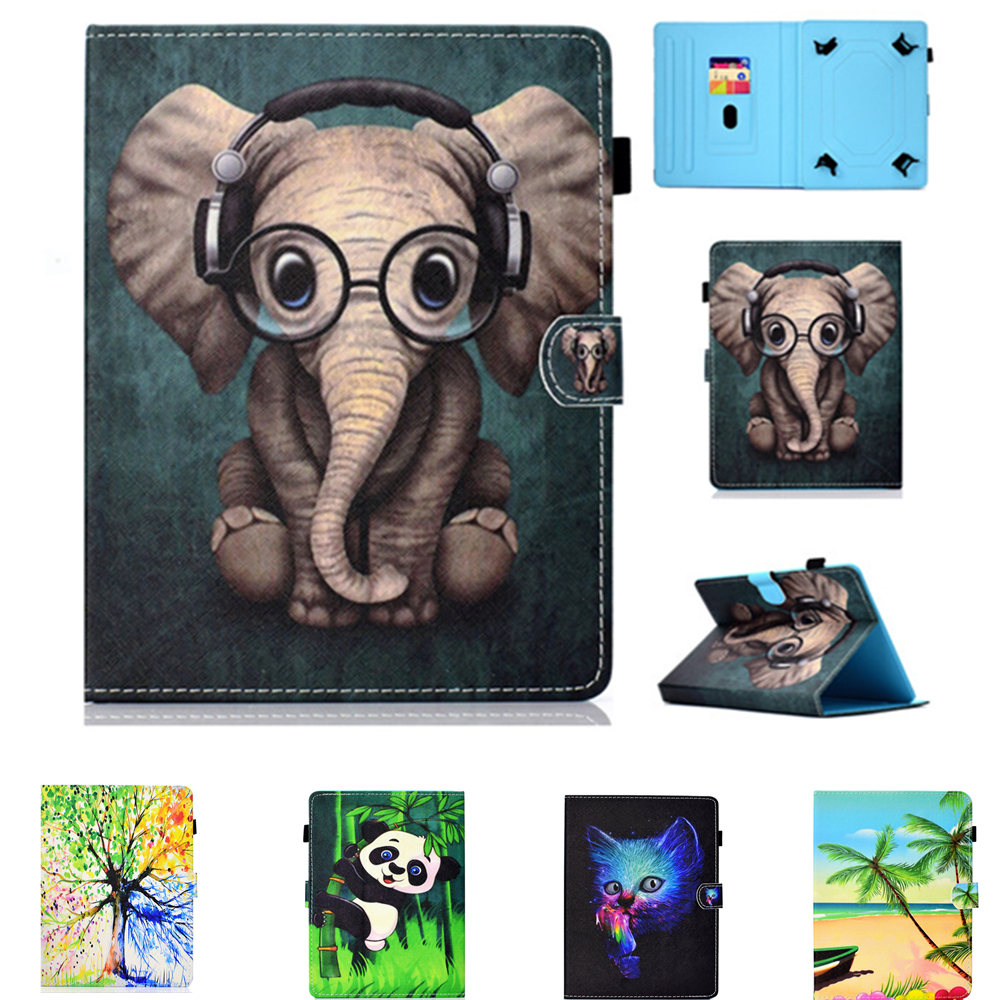 PU Leather 10.1 inch Cover Filp <font><b>case</b></font> For Samsung Galaxy Tab A 10.1 2019 Release <font><b>T510</b></font> T515 <font><b>SM</b></font>-<font><b>T510</b></font> Tablet Universal Sleeve Pouch image