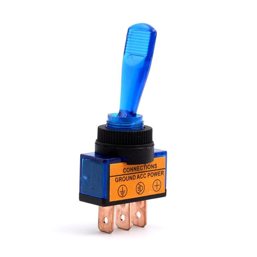 12V 20A Blue LED Light OFF/ON SPST Toggle Rocker Switch For Car Sales@11031