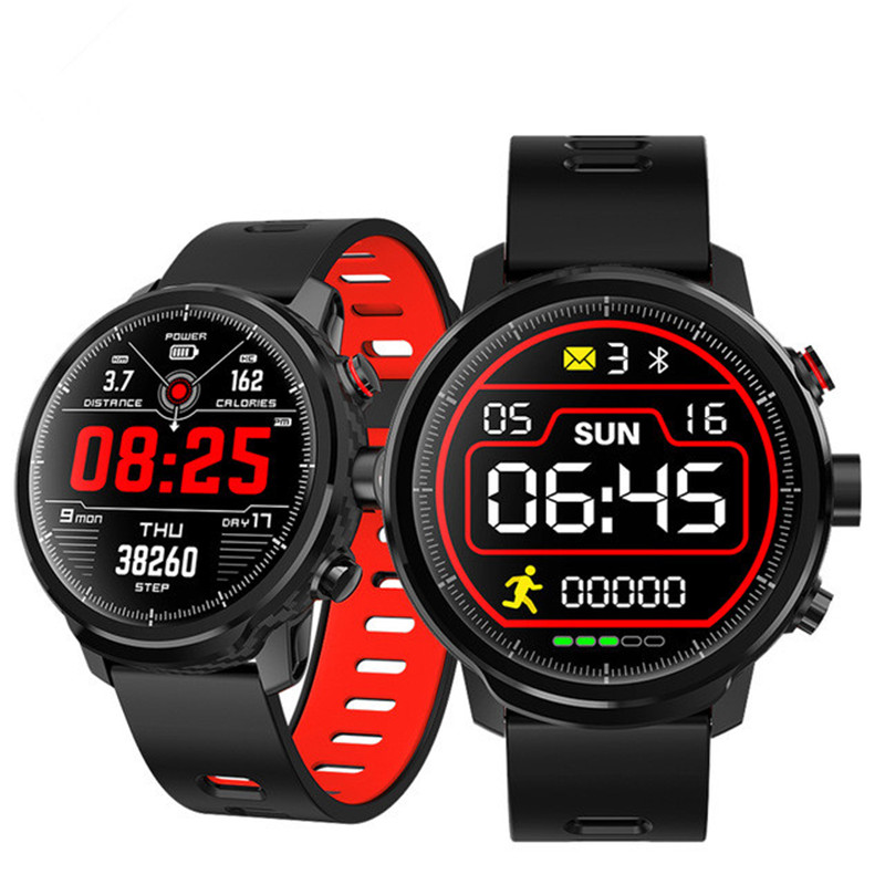 L5 Smart Watch Men IP68 Waterproof Multiple Sports Mode Heart Rate Weather Forecast Bluetooth Smartwatch Standby 100 Days