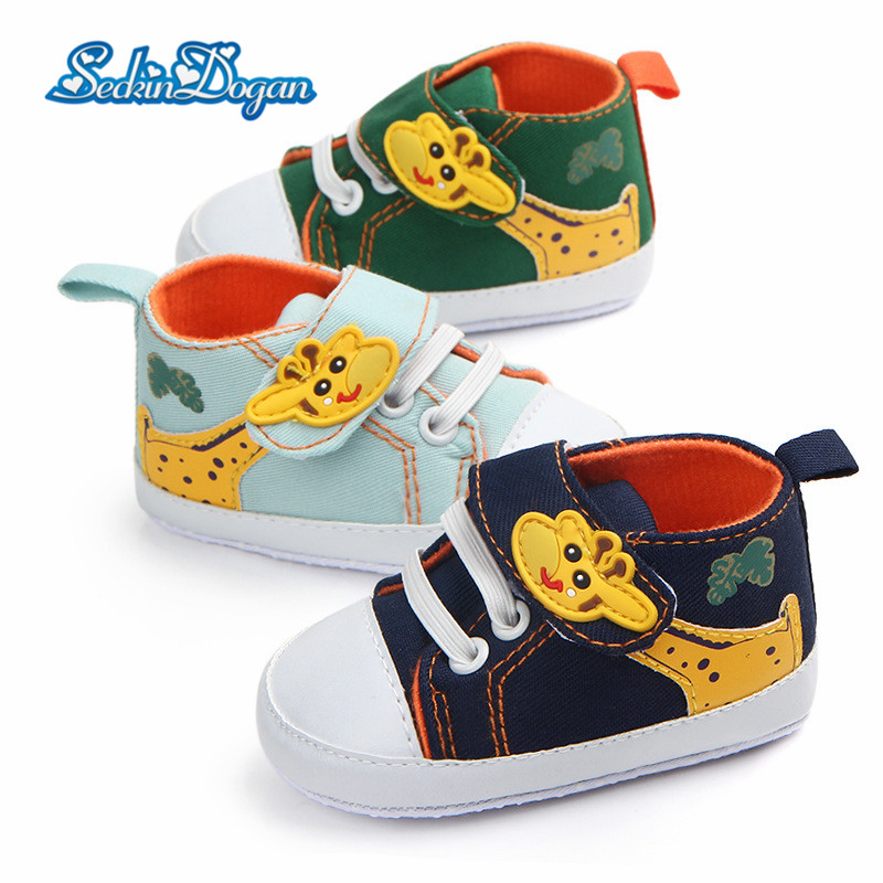 Fashion Toddler Infant Shoes Baby Boys Girls First Walkers Cotton Sneaker Soft Bottom Anti-slip Cartoon Pattern First Walkers