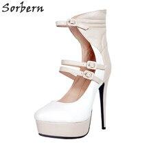 2d93fc573 Sorbern multi cor sapatos italianos mulheres 2018 sapatas das senhoras da  plataforma da bomba do salto alto tiras no tornozelo s.