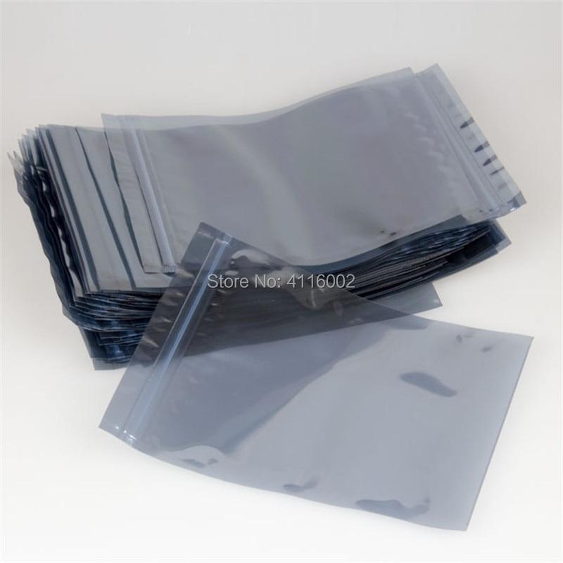 3000 PCS 8 12cm Anti Static Shielding Bags ESD Anti Static Package Bag Zip Lock Ziplock
