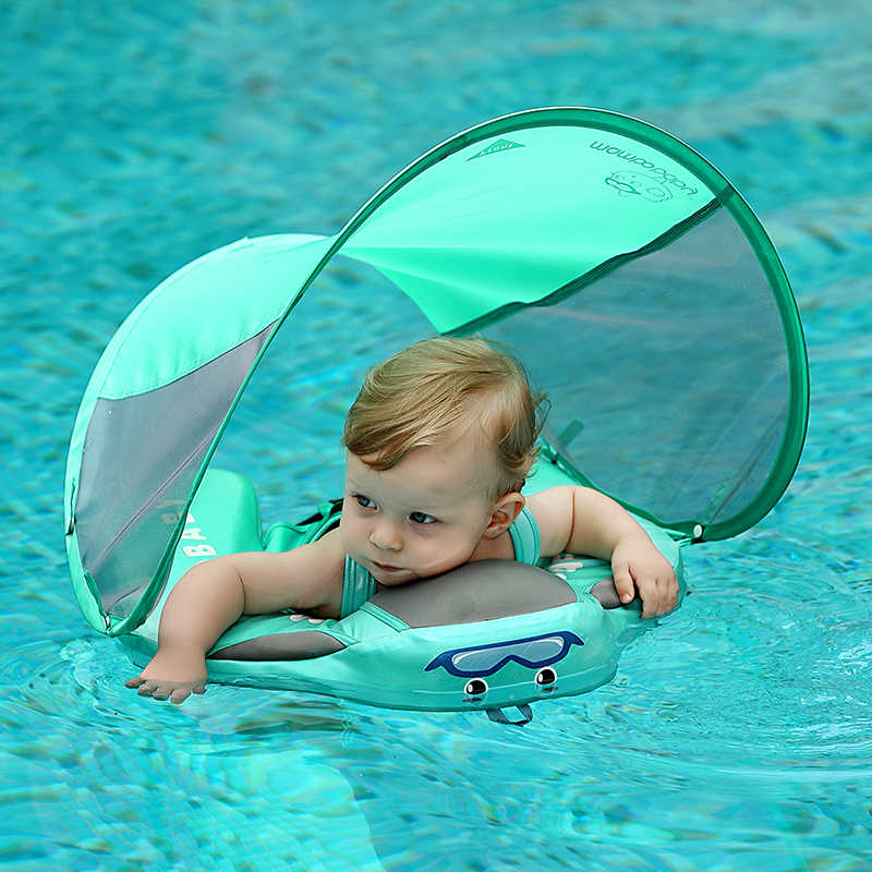 Waterproof Cover Solid No Need Inflatable Baby Swimming Ring floating Float Swimming Pool Toy for Bathtub and Swim Trainer