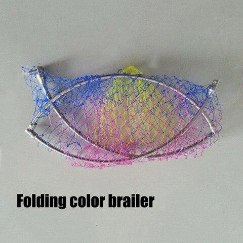 novo aco inoxidavel cabeca brailer cola rodada malha de arame rede de pesca de dobramento