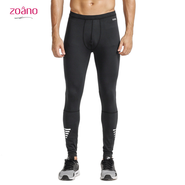 e1b63128c5b60 Zoano Men Sports Pants Polyester Spandex Elastic Waist Bottoming High  Tights Fitness Trousers Hot Sale Breathable Leisure
