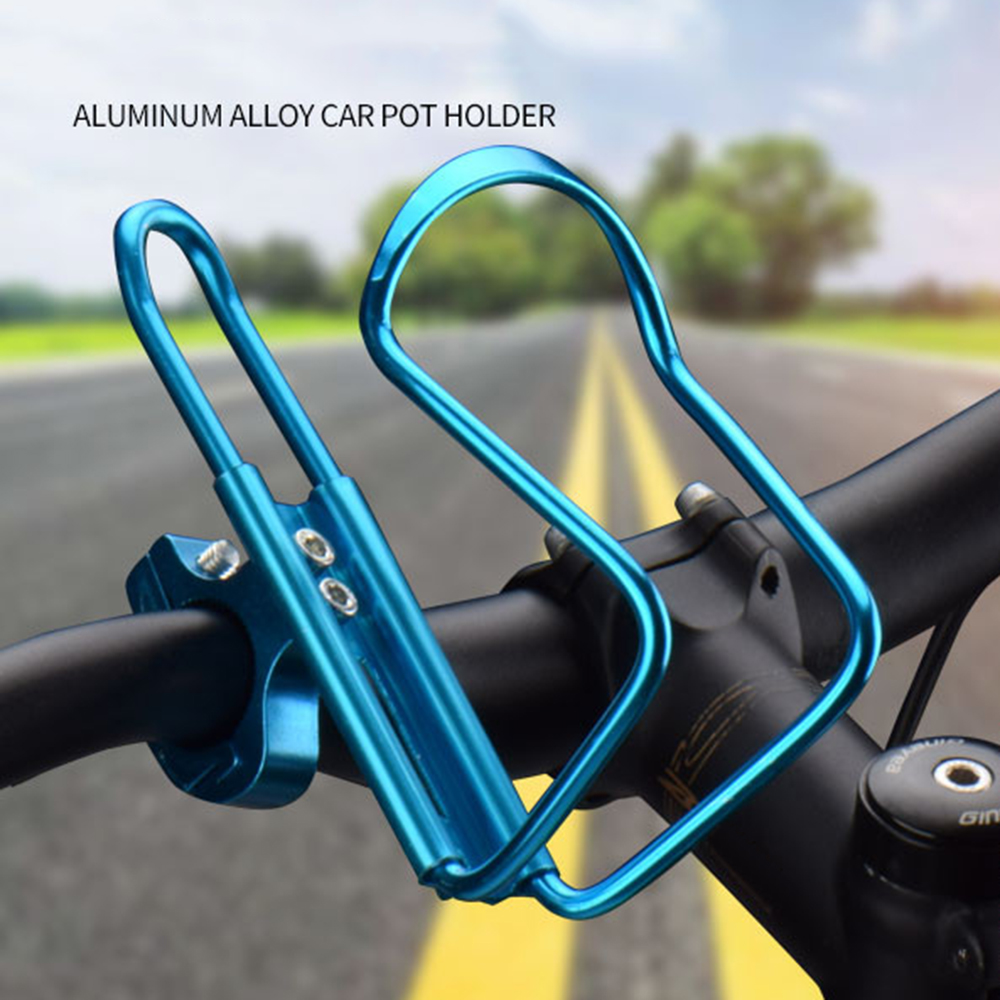 Dropship 1pc Aluminum Mountain Bicycle Double Water Bottle Holder Cage Rack Cycling Drinks Holder Outdoor Riding Drink Holder 4