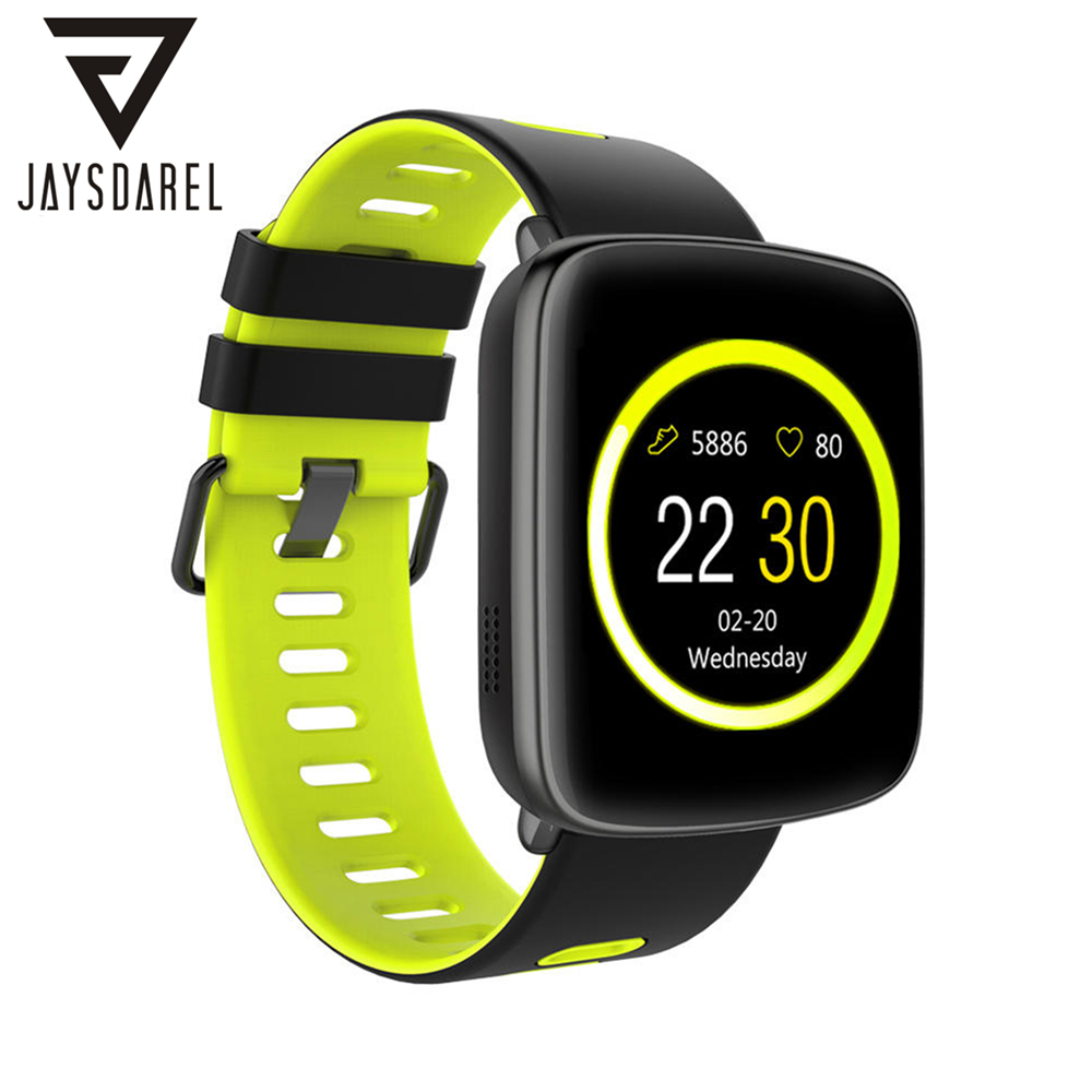 JAYSDAREL Heart Rate Monitor Smart Watch KINGWEAR GV68 MT2502D IP68 Waterproof Sports Bluetooth Smart Wristwatch for Android iOS free shipping smart watch c7 smartwatch 1 22 waterproof ip67 wristwatch bluetooth 4 0 siri gsm heart rate monitor ios