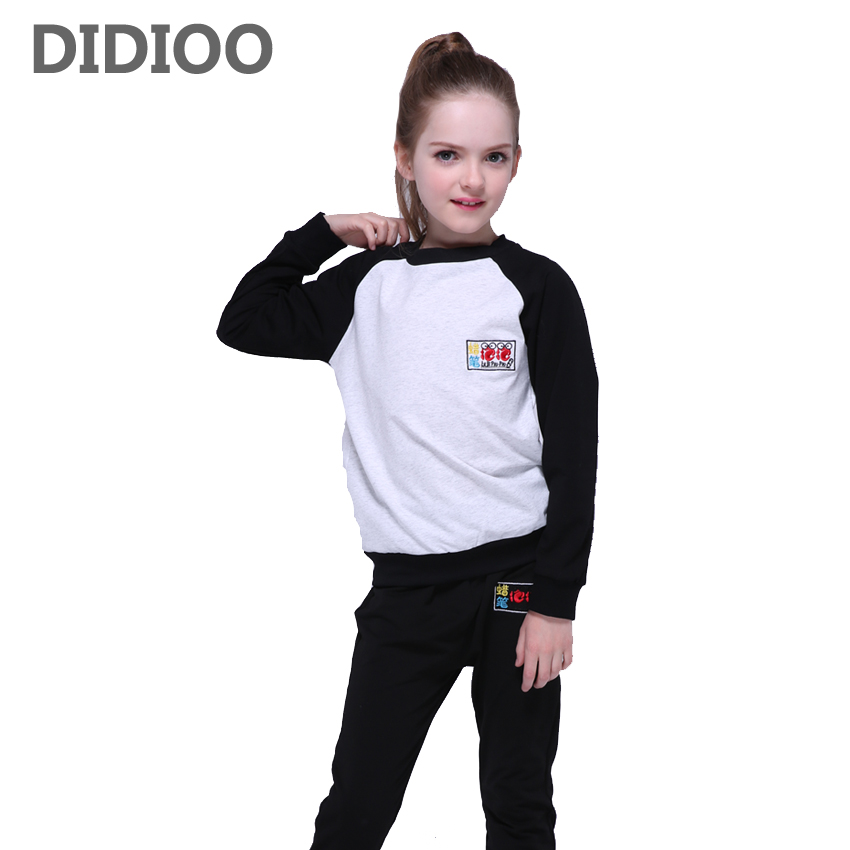 Children Clothing Sets For Girls Outfits Cotton Patchwork Kids Sports Suits Girls Tracksuits Brand Casual Sportswear 2 6 8 10 12 girls sports suits graffiti letter clothing sets for girls tracksuits cotton spring sportswear outfits 4 5 6 7 8 9 10 11 12 year