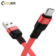 CASEIER USB Cable For Apple For iPhone X 8 7 6 Plus Charger Micro USB Type C Cable For Samsung Galaxy S9 S8 Note 9 USB C Cable led smile face pattern micro usb 9 pin male to usb 3 0 male cable for samsung galaxy note 3 purple