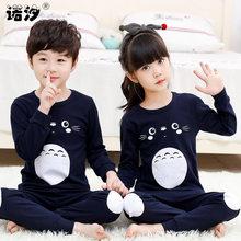e61522a4b14c0b Dziewczyny cartoon bielizna nocna dla dzieci chłopcy wiosna bawełna ustawia  dzieci Homewear piżamy chłopiec piżamy dla