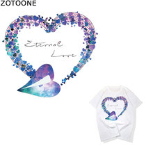 ZOTOONE Fashion Heart Alphabet Couple Clothes Decoration Offset DIYT Shirt Heat Transfer Vinyl A Class Hot Press D