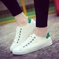 2016 Sapatas de Lona Das Mulheres Sapatos Da Moda Lace Up Cor Sólida Todos plana Sapatos Casuais Venda Quente 5 Estrela Sapatos Da Marca Respirável-E2