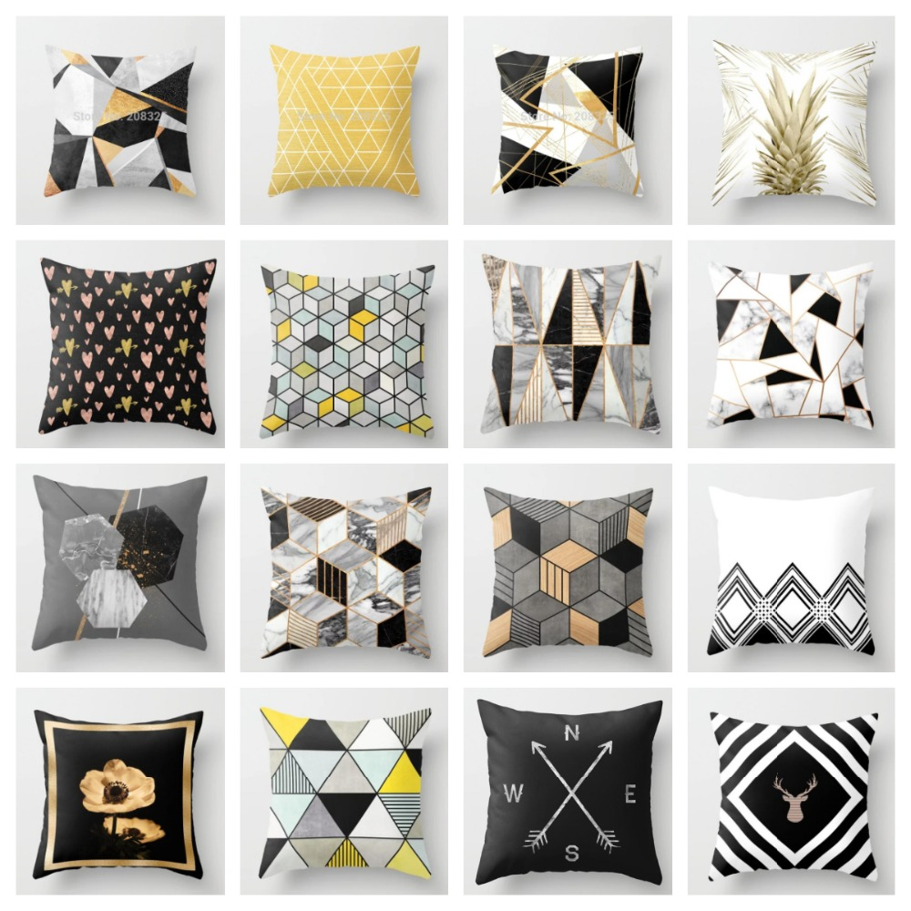 ZENGA Geometric Nordic Cushion Cover decorative cushion Throw Pillow Cover Polyester Cushion Case Sofa Bed Decorative Pillowcase(China)