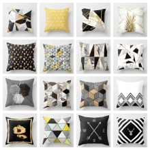 ZENGA геометрический чехол для подушки с Северными мотивами, декоративная подушка, наволочка из полиэстера, чехол для подушки, дивана, кровати, декоративный чехол для подушки