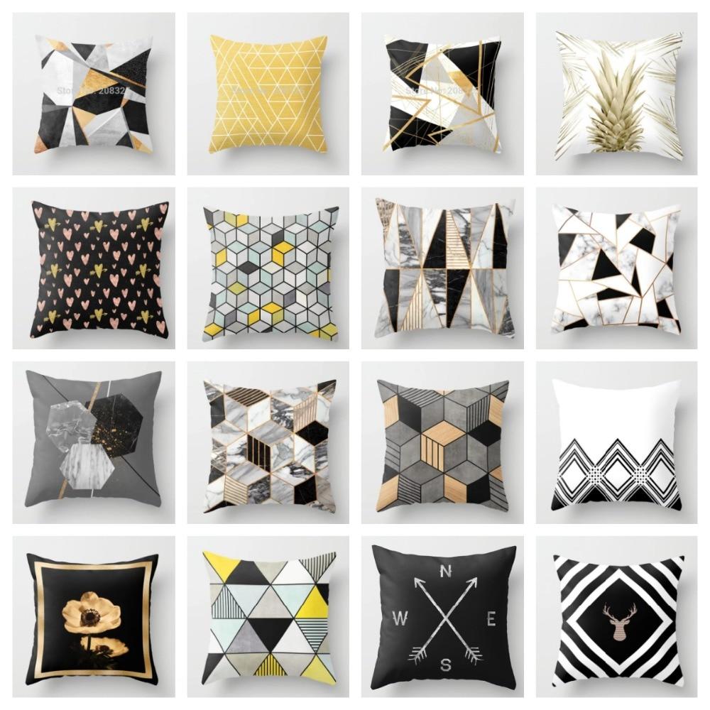 Throw Pillow Covers.Us 1 99 15 Off Zenga Geometric Nordic Cushion Cover Decorative Cushion Throw Pillow Cover Polyester Cushion Case Sofa Bed Decorative Pillowcase In