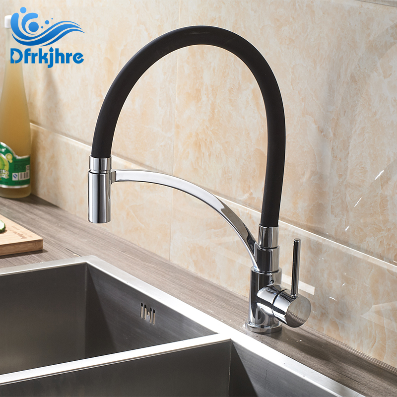 цена на Fashion Kitchen Faucet Can Stretch Chrome Polished Kitchen Tap Cold and Hot torneira para cozinha