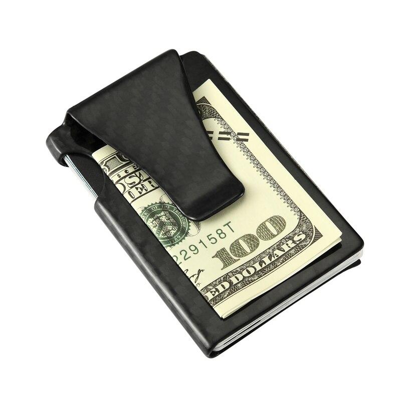 Carbon Fiber Card Holder Man Smart Carbon Minimalist Wallet Men Rfid Slim Credit Card Holder EDC Money Holder 18g