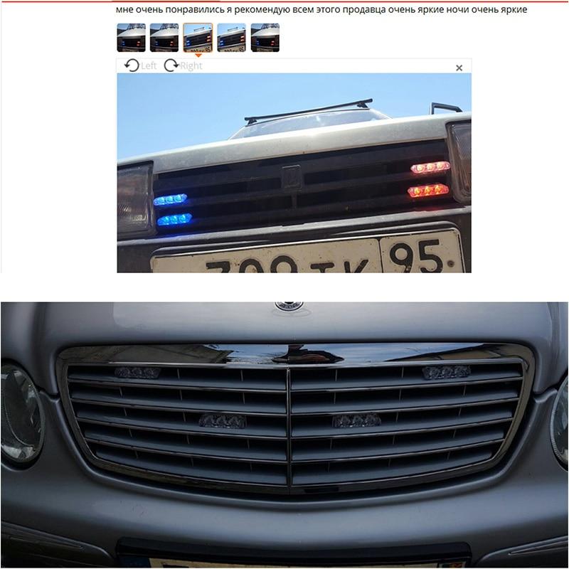 4X3LED DRL bežični daljinsko upravljani LED stroboskop svjetlo Bar - Svjetla automobila - Foto 6